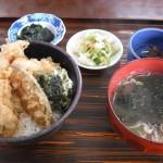 天丼1150円青海苔の天ぷらこれたまりません