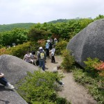 巨石の上から大滝根山を眺めてみます