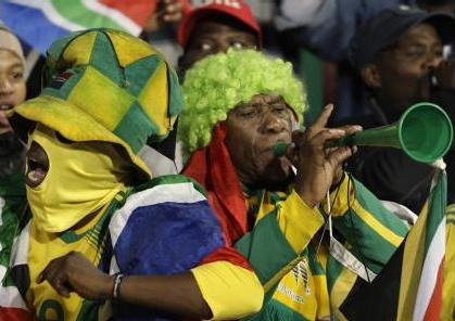 """南アフリカの民族楽器""""ブブセラ"""""""