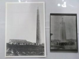 無線塔建設当時の貴重な写真