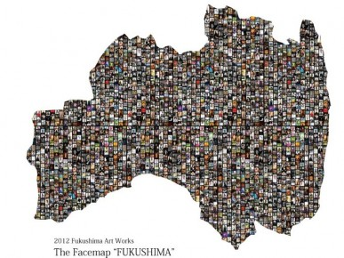 "2012 fukushima art works [The Facemap ""FUKUSHIMA""]"