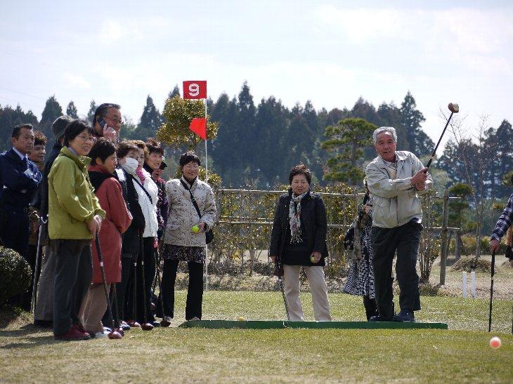 山形県からの皆さん、パークゴルフ体験