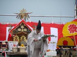 相馬中村神社、田代宮司による御神事