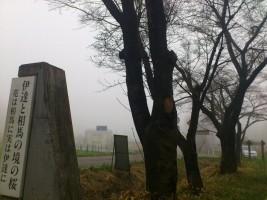 【相馬市】伊達と相馬の境の桜