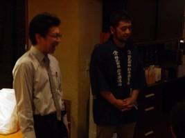 左:ターキーのマスター剛史さん、右:『磐城壽』鈴木酒造店 大介さん