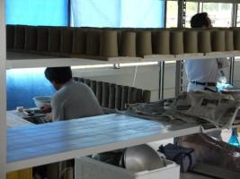 大堀相馬焼を制作する職人さんを見学することができました