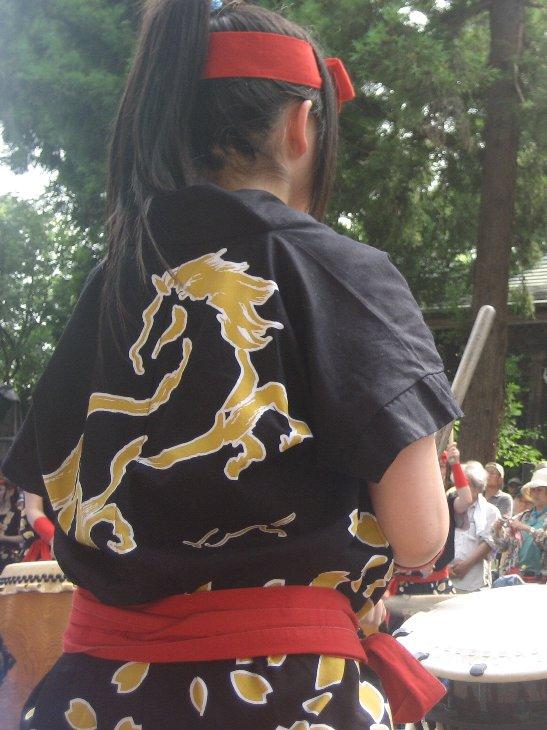 相馬高校、相馬太鼓の演奏