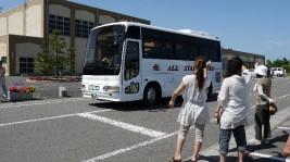 真野小学校6年生10人。長野県・蓼科のキャンプへ出発