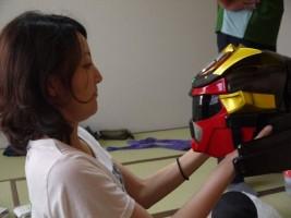 ディネードマスクを手に、アクビさま