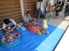 「小高区5校PTA夏祭り」ヨーヨー釣り