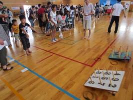 「小高区5校PTA夏祭り」輪投げ