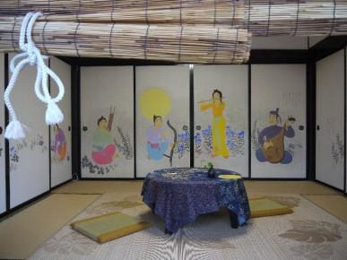 鈴木靖将先生が描いた翠の里の襖絵