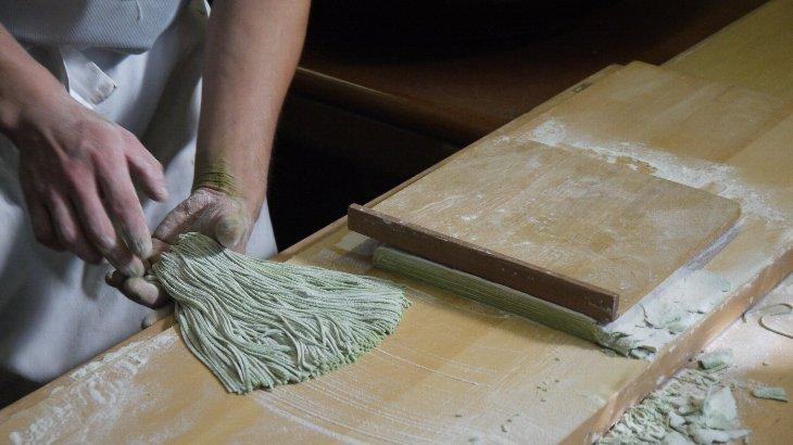 間乃次郎庵さんで蕎麦打ちを見せていただきました