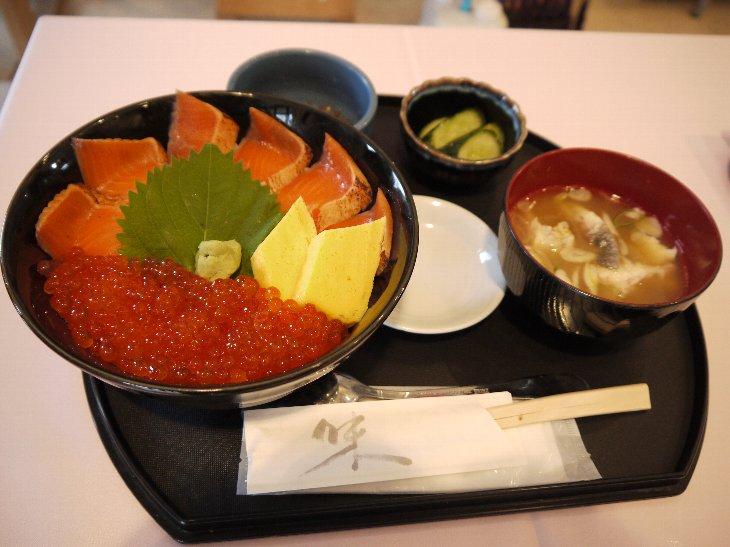 [お食事処 たこ八]秋の二色丼(1,380円)