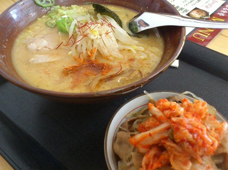 [さくら はる食堂]はる味噌ラーメンセット(キムチトッピング)