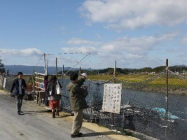 相馬市宇田川の鮭棚