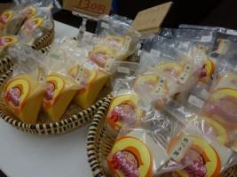 渡邊さんが作るかぼちゃを使用したお餅