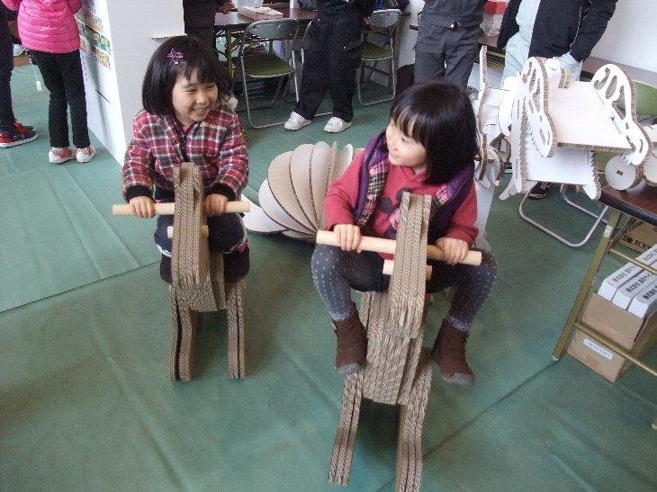 楽しみながらイベントで参加されている児童