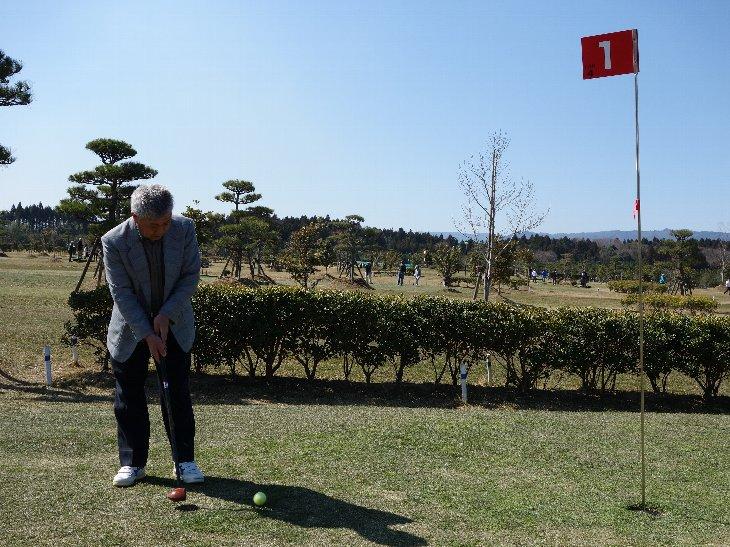 相馬光陽パークゴルフ場でプレーする山形県の皆様