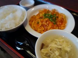 エビ玉チリ定食 ¥850