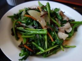つぼみ菜と豚肉の炒め