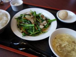Cランチ つぼみ菜と豚肉の炒め ¥750