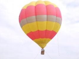 のまおい夢気球試験飛行中