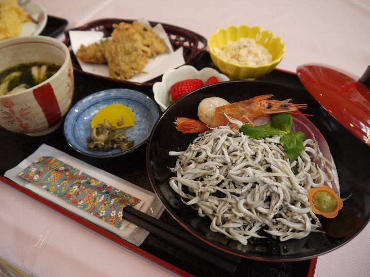 [賀都屋旅館]んだげんちょ丼(800円)
