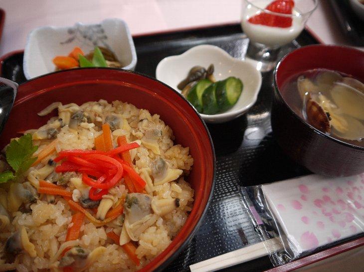 [お食事処 旭亭]あさりご飯定食(1,050円)