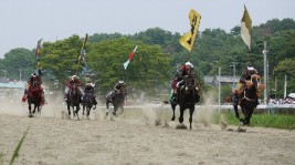 雲雀ヶ原祭場地、甲冑競馬