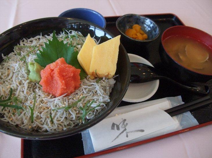 [お食事処 たこ八]かっこみ明太しらす丼(980円)