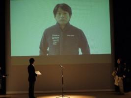 片山右京さんはビデオレターで参加してくれました