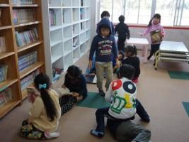 児童クラブの子供たち