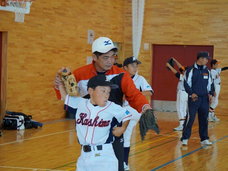 工藤公康さん野球教室
