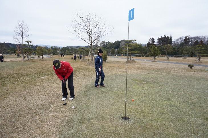 相馬光陽パークゴルフ場でプレーする秋田県の皆様