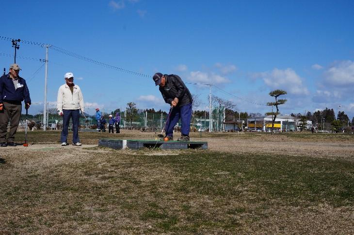 松川浦パークゴルフ場でプレー