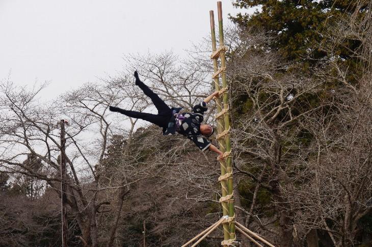 相馬小高神社「はしご乗り」奉納