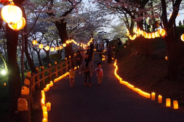 夜の森公園ライトアップ点灯式